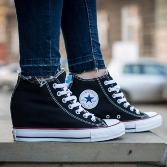 Converse Shoes   Nwt Converse Chuck Taylor Lux Mid Wedge Sneakers ...